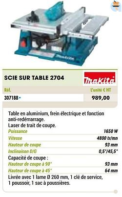 Makita scie sur table 2704