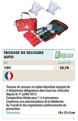 Trousse de secours auto