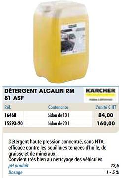 Détergent alcalin rm 81 asf