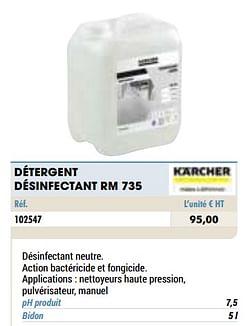 Détergent désinfectant rm 735
