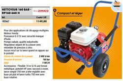 Dimaco nettoyeur 160 bar - rp160 660 h
