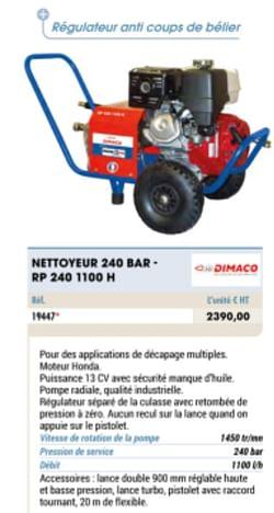 Dimaco nettoyeur 240 bar - rp 240 1100 h