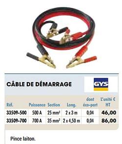 Gys câble de démarrage