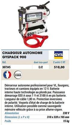 Gys chargeur autonome gyspack 900