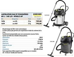 Kärcher aspirateur eau et poussières s - nt65-2 ap