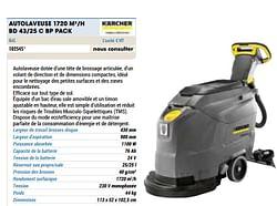 Kärcher autolaveuse 1720 m 2-h bd 43-25 c bp pack