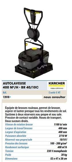 Kärcher autolaveuse 400 m2-h - br 40-10c