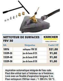 Kärcher nettoyeur de surfaces frv 30