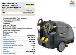 Kärcher nettoyeur hp eau chaude 180 bar - 800 l-h - hds 8-18-4m