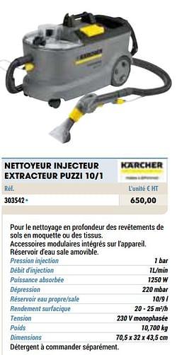 Kärcher nettoyeur injecteur extracteur puzzi 10-1