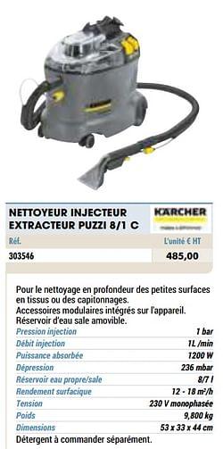 Kärcher nettoyeur injecteur extracteur puzzi 8-1 c
