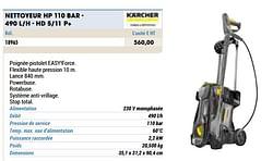 Nettoyeur hp 110 bar - 490 l-h - hd 5-11 p+