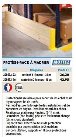 Protège-rack à madrier