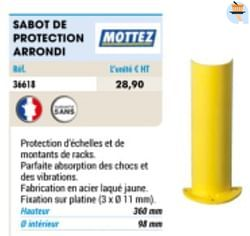 Sabot de protection arrondi