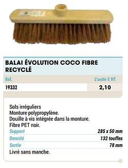 Balai évolution coco fibre recyclé