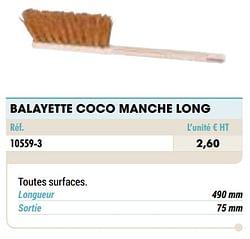 Balayette coco manche long