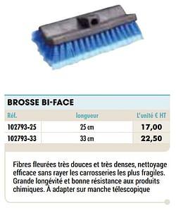 Brosse bi-face