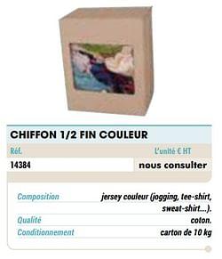 Chiffon 1-2 fin couleur