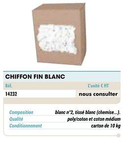 Chiffon fin blanc
