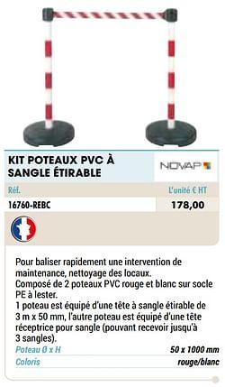 Kit poteaux pvc à sangle étirable