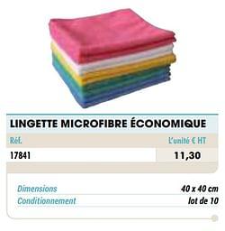 Lingette microfibre économique