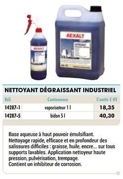 Nettoyant dégraissant industriel