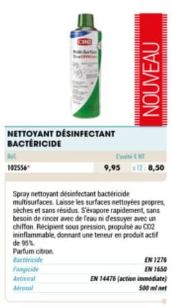 Nettoyant desinfectant bactericide