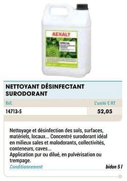 Nettoyant désinfectant surodorant