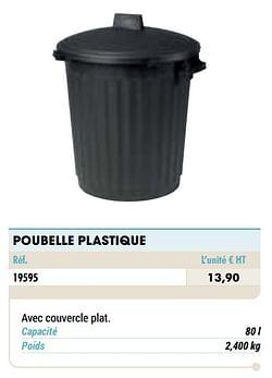 Poubelle plastique