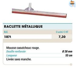 Raclette métallique