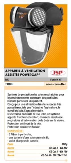 Appareil ventilation assisté powercap