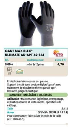 Gant maxiflex• ultimate ao-apt 42-874