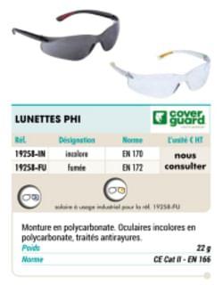 Lunettes phi