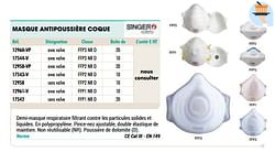 Masque antipoussière coque