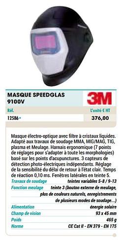 Masque speedglas 9100v