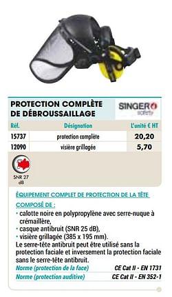 Protection complète de débroussaillage