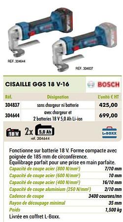 Bosch cisaille ggs 18 v-16