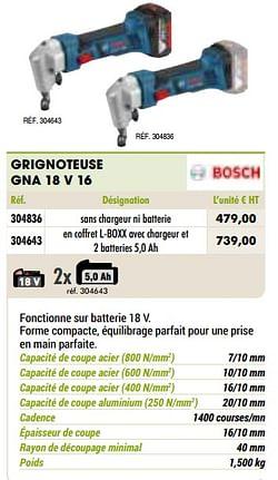 Bosch grignoteuse gna 18 v 16