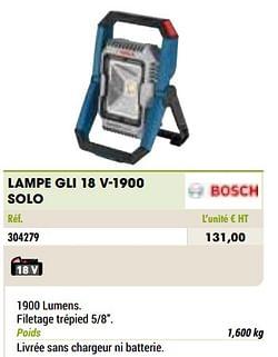 Bosch lampe gli 18 v-1900 solo