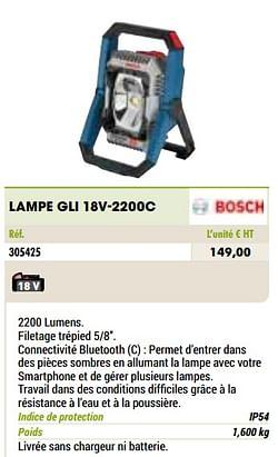 Bosch lampe gli 18v-2200c