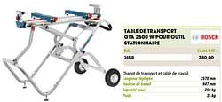 Bosch table de transport gta 2500 w pour outil stationnaire