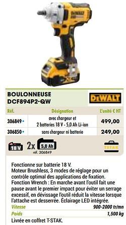 Dewalt boulonneuse dcf894p2-qw