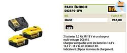 Dewalt pack énergie dcbp2-qw