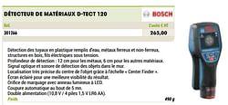 Bosch détecteur de matériaux d-tect 120
