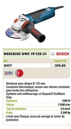 Bosch meuleuse gws 19-125 ci