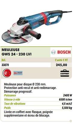 Bosch meuleuse gws 24 - 230 lvi