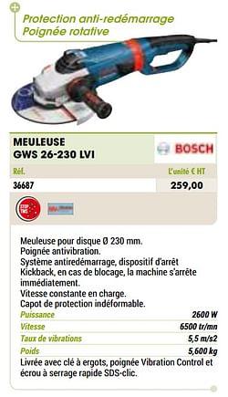 Bosch meuleuse gws 26-230 lvi