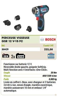 Bosch perceuse visseuse gsr 12 v-15 fc