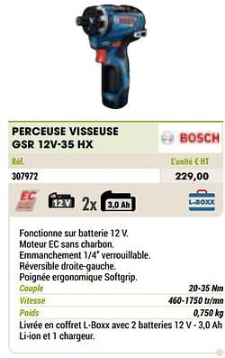 Bosch perceuse visseuse gsr 12v-35 hx