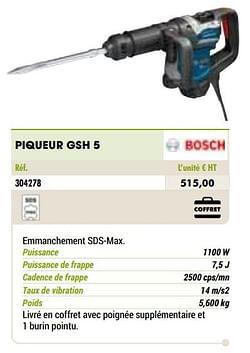 Bosch piqueur gsh 5